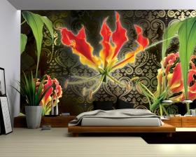 Interior of modern bedroom 3D rendering